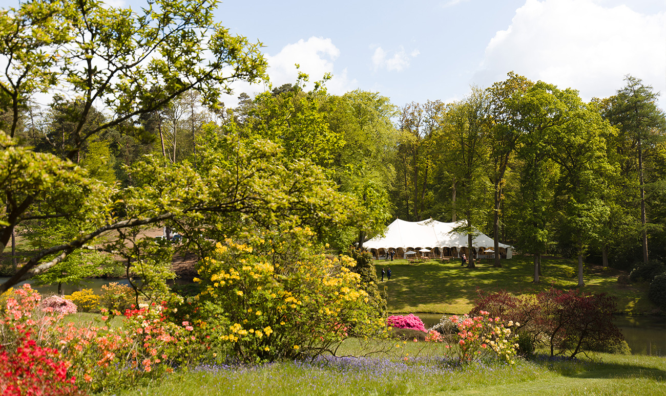 Marquee wedding at The Hyde Estate